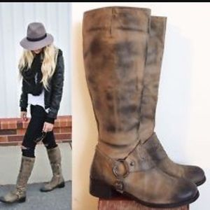 Vince Camuto Shaylee Brown Riding Boot
